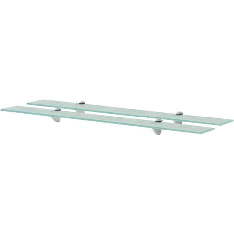 Floating Shelves 2 pcs Glass 90x20 cm 8 mm - Transparent