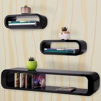 "Floating Shelves Set / TV Stand ""Cube"" Retro Vintage Livingroom Furniture - Colour Choice"