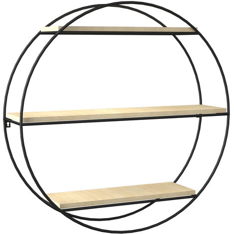 Floating Wall Display Shelf 3 Tier Book/DVD Storage