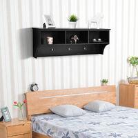 Floating Wall Mounted Shelf Hanging Display Shelves Storage Bookshelf Organizer