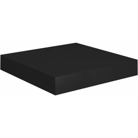 Floating Wall Shelf Black 23x23.5x3.8 cm MDF