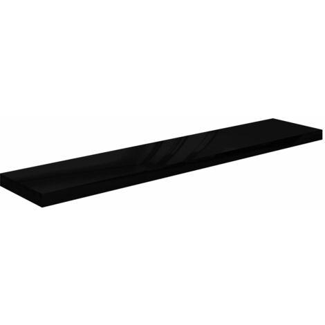 Floating Wall Shelf High Gloss Black 120x23.5x3.8 cm MDF