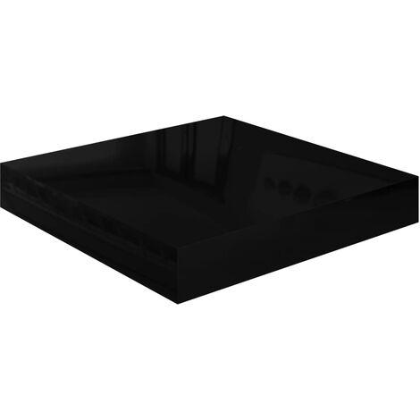 Floating Wall Shelf High Gloss Black 23x23.5x3.8 cm MDF