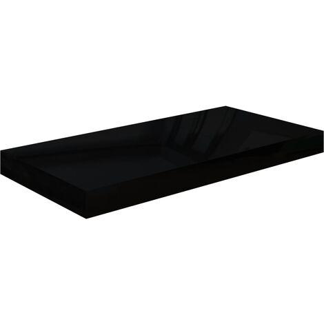 Floating Wall Shelf High Gloss Black 50x23x3.8 cm MDF