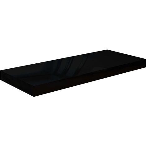Floating Wall Shelf High Gloss Black 60x23.5x3.8 cm MDF