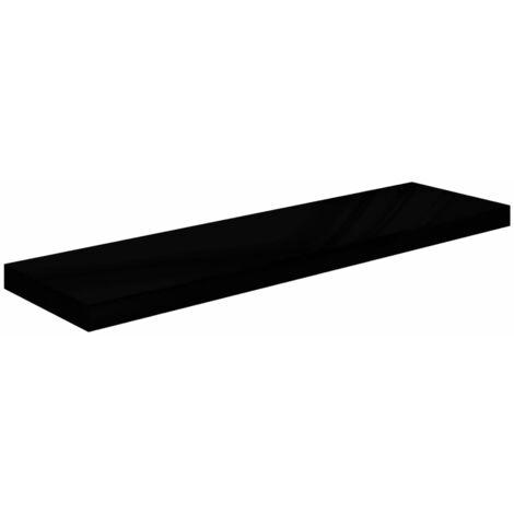 Floating Wall Shelf High Gloss Black 90x23.5x3.8 cm MDF