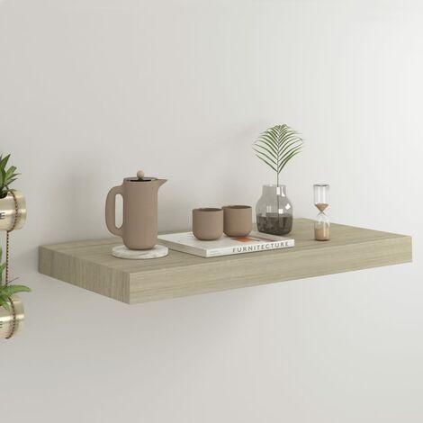 Floating Wall Shelf Oak 50x23x3.8 cm MDF