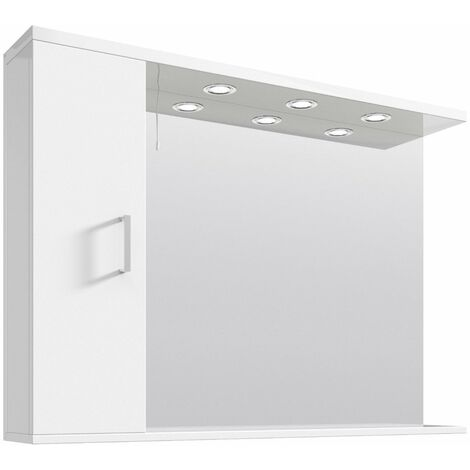 Floe 1050mm Gloss White Mirror