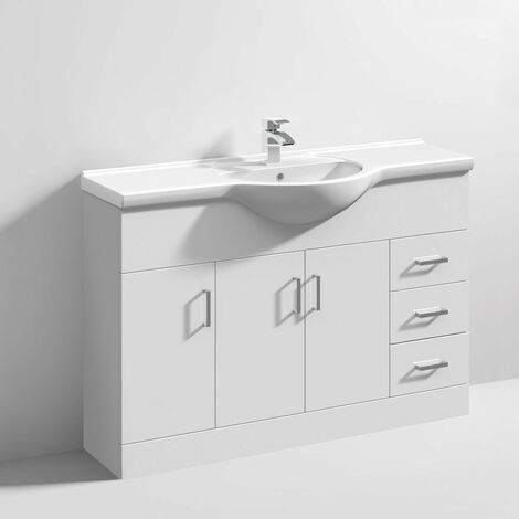 Floe 1200mm Floor Standing Cabinet & Basin - 1 Tap Hole