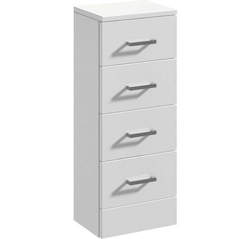 Floe 300mm x 300mm Gloss White 4 Drawer Unit
