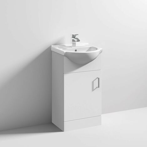 """main image of """"Floe 450mm Floor Standing Cabinet & Basin - 1 Tap Hole"""""""