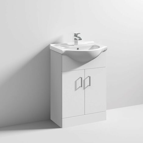 """main image of """"Floe 550mm Floor Standing Cabinet & Basin - 1 Tap Hole"""""""