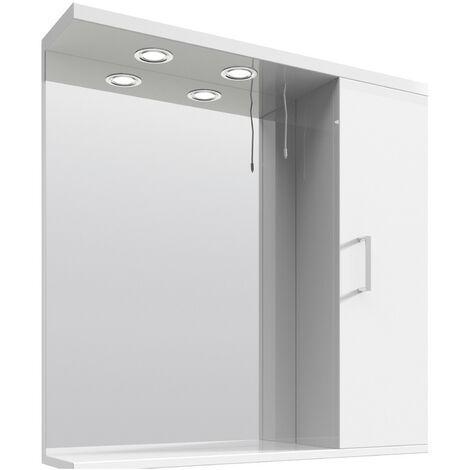 Floe 750mm Gloss White Mirror