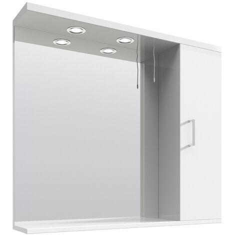 Floe 850mm Gloss White Mirror