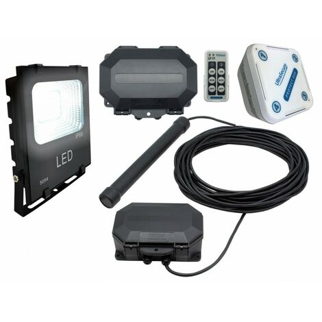 Flood Light Long Range Wireless Driveway Metal Detecting Alarm with Outdoor & Indoor Receiver. [004-5230]