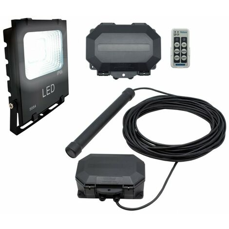 Flood Light Long Range Wireless Driveway Metal Detecting Alarm with Outdoor Receiver & Remote Control. [004-5210]
