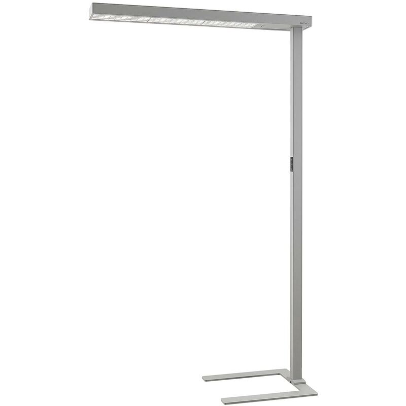 Image of Arcchio - Floor Lamp 'Susi' (incl. touch dimmer) dimmable (modern) in Silver made of Aluminium for e.g. Office & Workroom (1 light source, A+) from
