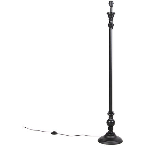 Floor Lamp Black without Shade - Classico