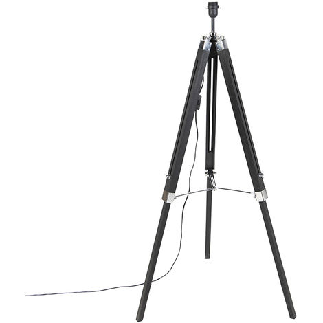 Floor Lamp Black without Shade - Tripod