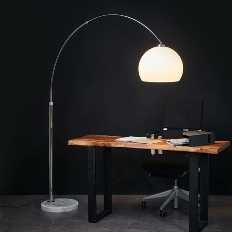 Floor Lamp 'Fjella' (modern) in White made of Metal (1 light source, E27, A++) from Lindby   Standard Lamp