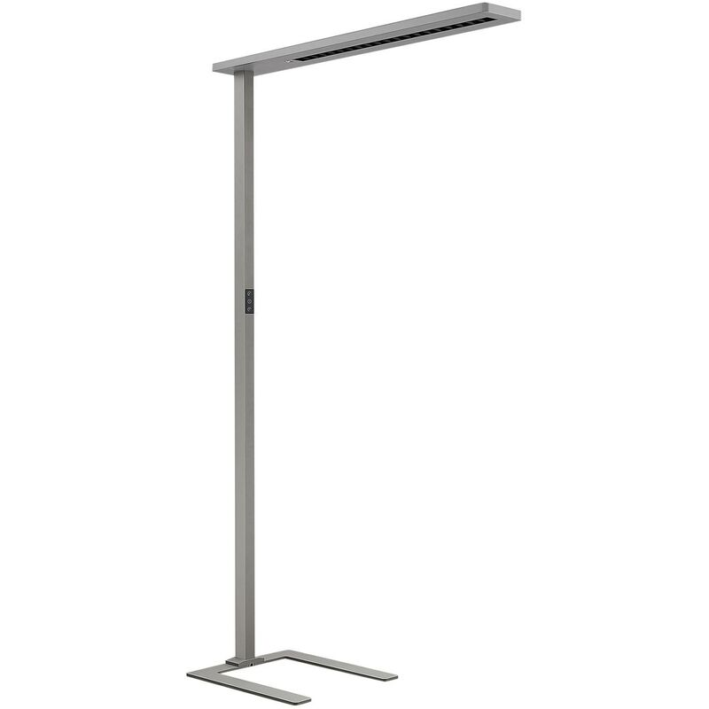 Image of Arcchio - Floor Lamp 'Ionel' (incl. touch dimmer) dimmable in Silver made of Aluminium for e.g. Office & Workroom (A+) from Standard Lamp, Uplighter,