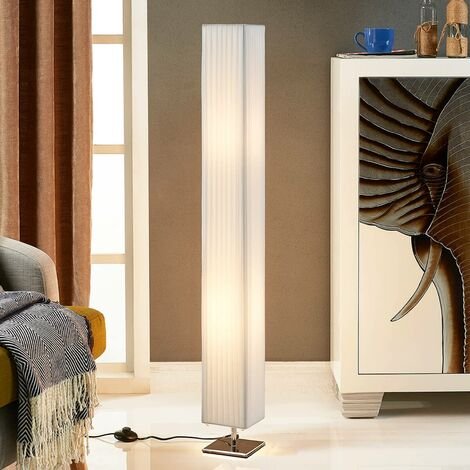 Floor Lamp 'Janno' (modern) in White made of Textile (2 light sources, E27, A++) from Lindby   Standard Lamp
