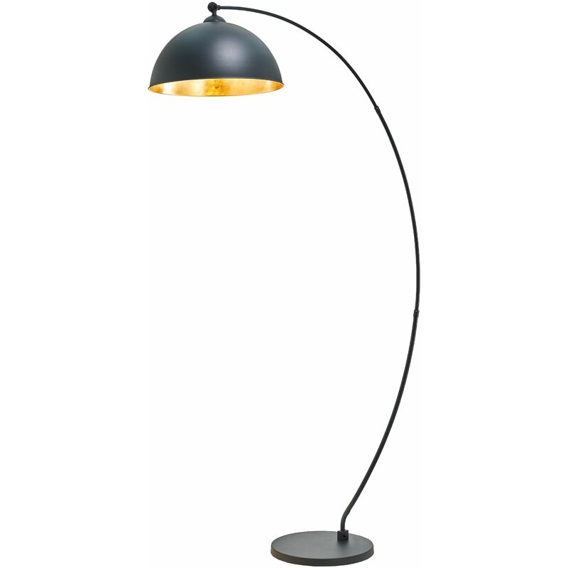 Image of Floor Lamp 'Jonera' (young lifestyle) in Black made of Metal (1 light source, E27, A++) from Lindby   Standard Lamp, Arc Lamps
