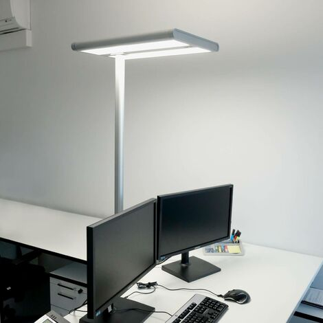 Floor Lamp 'Quirin' in Silver made of Aluminium for e.g. Office & Workroom (A+) from Arcchio | Standard Lamp, Uplighter, Business Lighting
