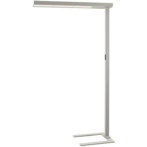 Floor Lamp 'Susi' (incl. touch dimmer) dimmable (modern) in Silver made of Aluminium for e.g. Office & Workroom (1 light source, A+) from Arcchio | Standard Lamp, Uplighter, Business Lighting