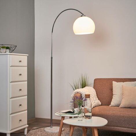 Floor Lamp 'Sveri' (modern) in White (1 light source, E27, A++) from Lindby   Standard Lamp, Arc Lamps