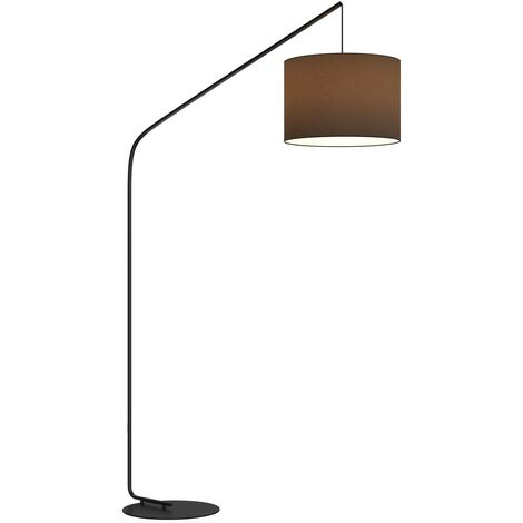 Floor Lamp 'Viskan' (young lifestyle) in Black made of Textile (1 light source, E27, A++) from Lindby   Standard Lamp, Arc Lamps