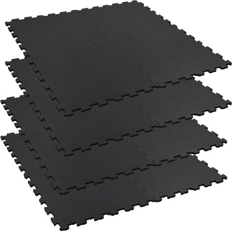 Floor Mats 4 pcs Anti-Slip Rubber 60x60 cm 12 mm Hexagon
