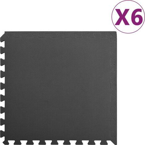 Floor Mats 6 pcs 2.16 銕?EVA Foam Black - Black