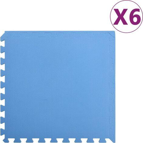 Floor Mats 6 pcs 2.16 銕?EVA Foam Blue - Blue