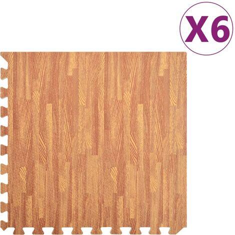 Floor Mats 6 pcs Wood Grain 2.16 ㎡EVA Foam