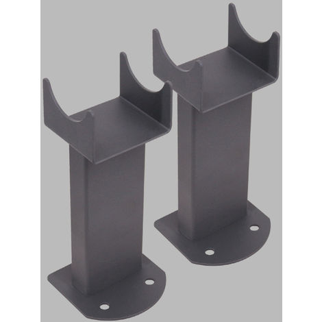 Floor Mounting Brackets for Oval Column Radiator 2PC/Set Anthracite