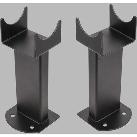 Floor Mounting Brackets for Oval Column Radiator 2PC/Set Black