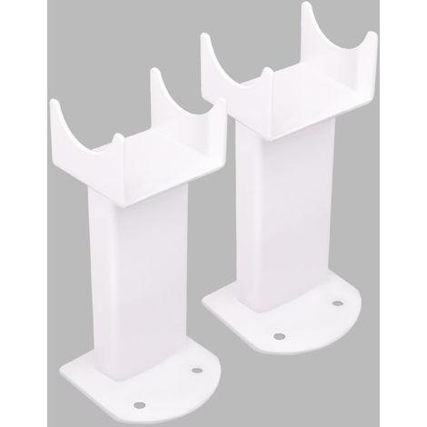 Floor Mounting Brackets for Oval Column Radiator 2PC/Set White