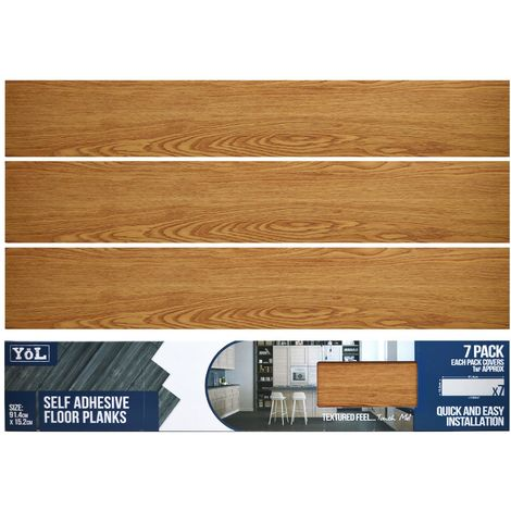 FLOOR PLANKS OAK PACK OF 7 6X36""