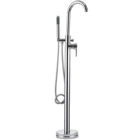 Floor Standing Bath Tub Faucet Bathroom Mixer Tap + Handheld Shower Head+Hose