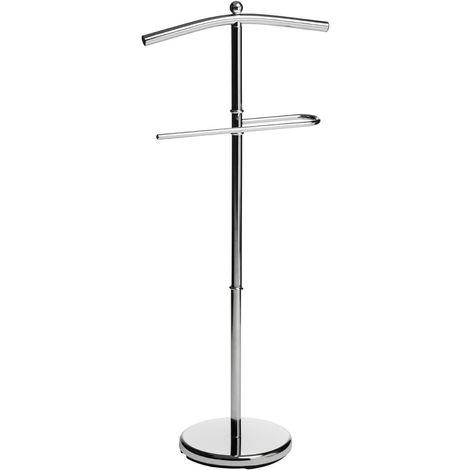 Floor Standing Clothes Valet,Chrome Finish