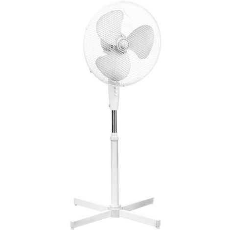 Floor standing fan,3 speeds/oscillation, white/height adjustable