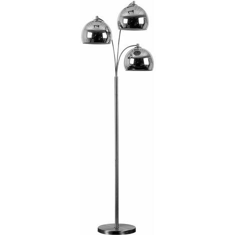 Floor Standing Lamp 3 Arm Arco Style Arc Base Light Chrome