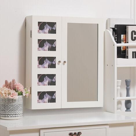 Floor Standing Mirror Jewellery Cabinet with Storage Drawers Organiser