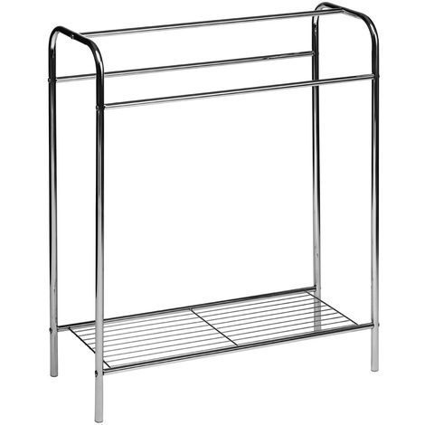 Floor Standing Towel Stand,Chrome Plated Steel Tube/Steel Wire