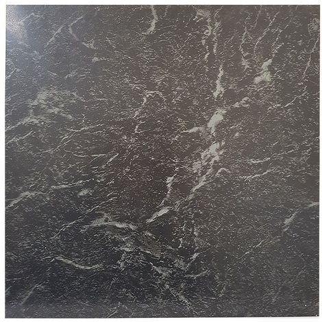 Floor Tiles Self Adhesive Vinyl Flooring Kitchen Bathroom Black Marble Effect