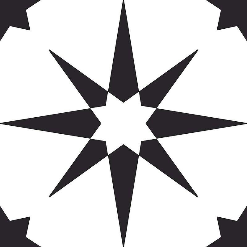 Image of Altair Self Adhesive Vinyl Floor Tiles Modern Black White Kitchen - Floorpops