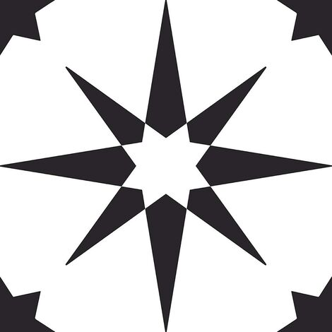 Floorpops Altair Self Adhesive Vinyl Floor Tiles Modern Black White Kitchen