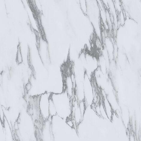 "main image of ""Floorpops Opaline Self Adhesive Vinyl Floor Tiles Modern Marble White Kitchen"""