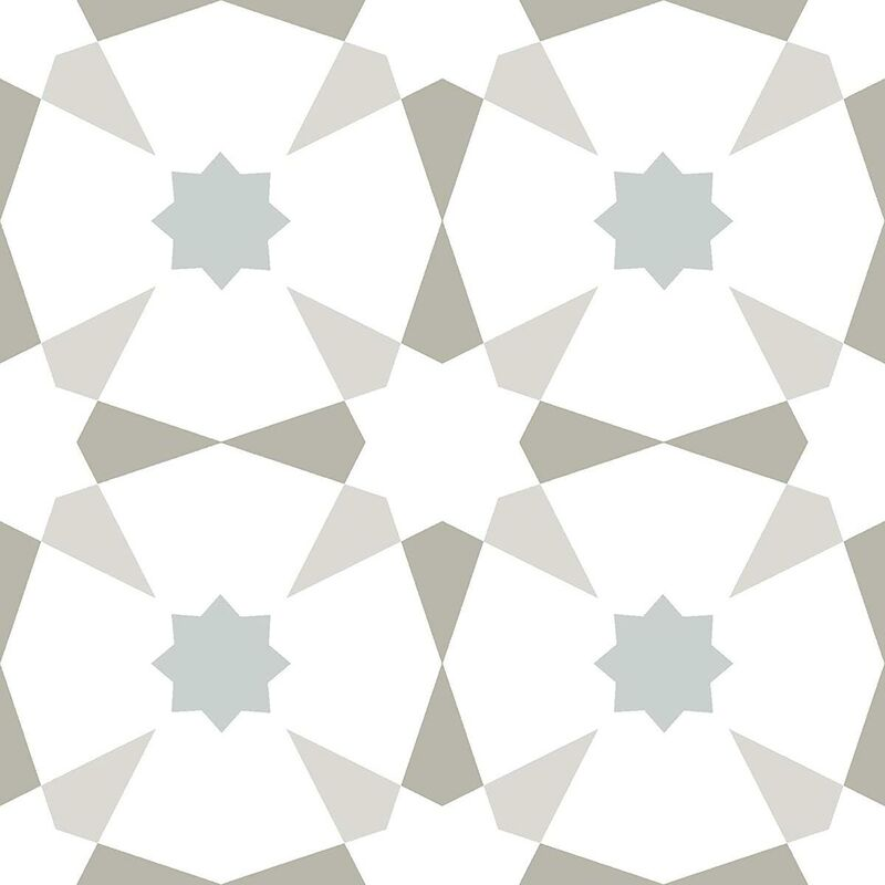 Image of Stellar Self Adhesive Vinyl Floor Tiles Modern Black White Kitchen - Floorpops